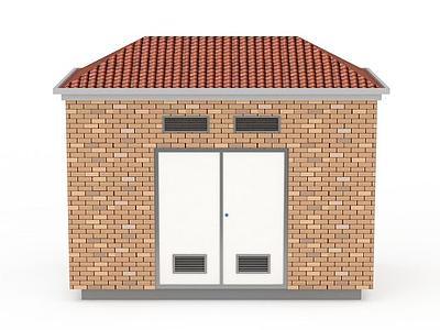 3d房屋建筑變電箱模型