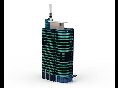 3d現代商業大廈模型