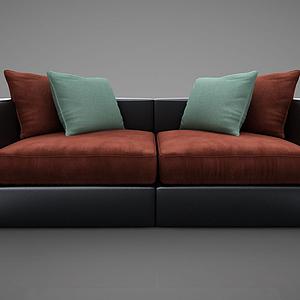 雙人沙發模型