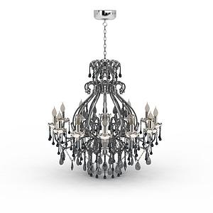 大型水晶吊燈模型