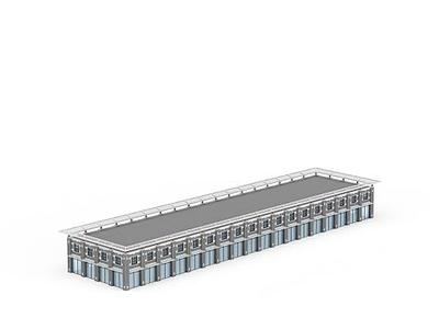 3d廠房建筑模型