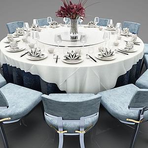 圓形餐桌模型