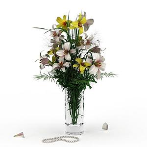3d鮮花模型