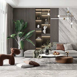現代組合沙發模型