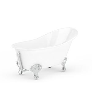精美歐式金屬支架浴缸模型