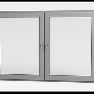 簡約推拉窗戶模型