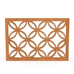 實木雕花窗戶模型