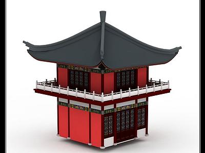 3d古建鐘樓免費模型