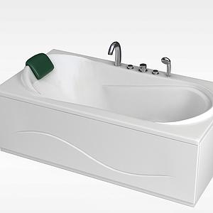 現代人造石浴缸模型