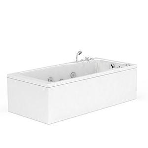 現代長方形多功能浴缸模型