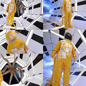 太空艙宇航員模型