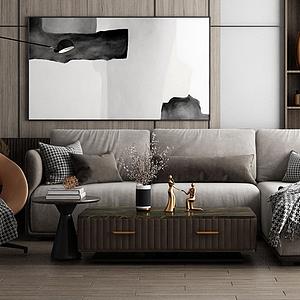 家具饰品组合沙发模型