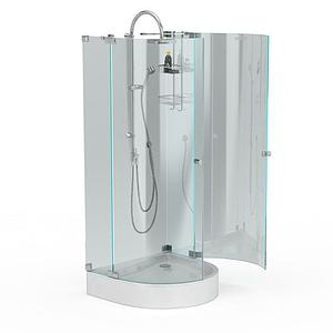 鋼化玻璃沐浴間模型