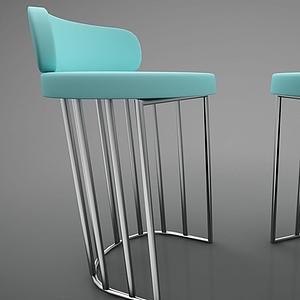 現代風格吧椅模型