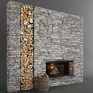 木頭背景墻模型