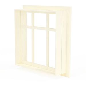 簡約實木窗戶模型