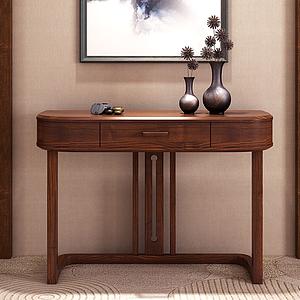 新中式玄關桌飾品模型