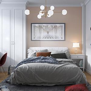 簡美臥室模型