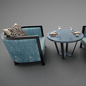 休闲沙发模型