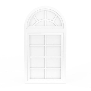 歐式白色門窗模型