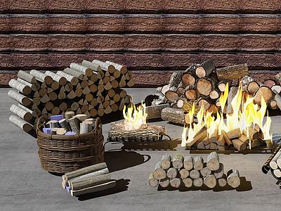 木頭模型3d模型