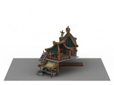 3d客棧驛站模型