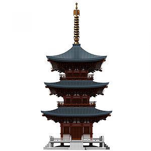 中式古建塔樓佛塔模型