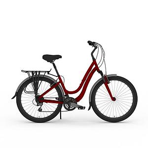 女式自行車模型