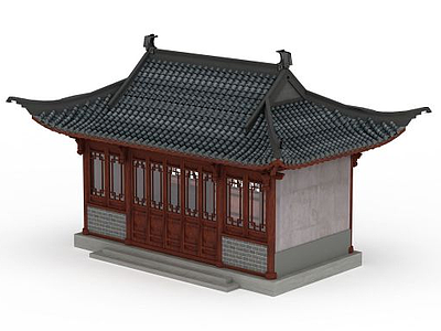3d古建房屋免費模型
