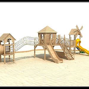 木質滑梯模型