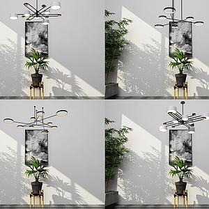 北歐吊燈模型
