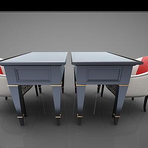 現代風格辦公桌模型
