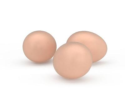 3d雞蛋模型