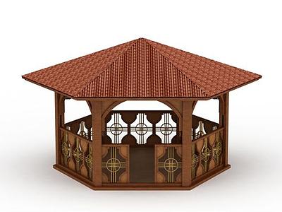 3d室外涼亭免費模型