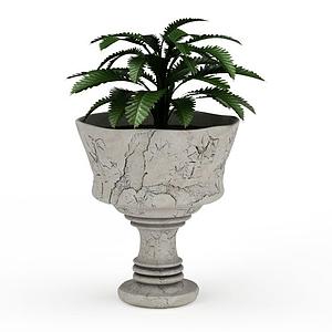 觀賞性盆栽模型