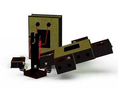 3d中式禮品包裝盒免費模型
