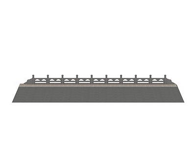 3d石材護欄、古建、橋體免費模型