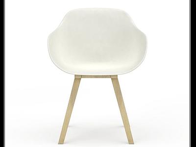 3d塑料餐椅模型