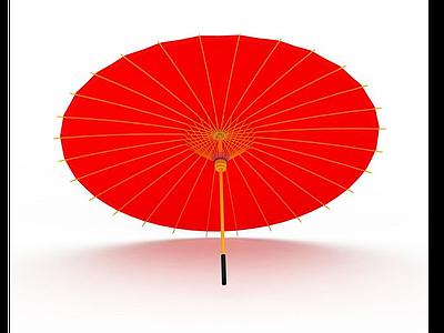 3d<font class='myIsRed'>紅色</font>紙傘免費模型
