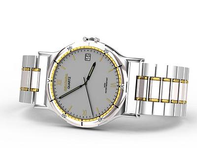 男士石英手表模型3d模型