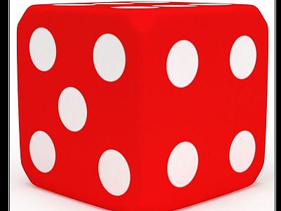 3d<font class='myIsRed'>紅色</font>玩具骰子免費模型