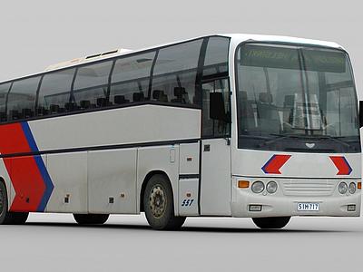 3d大巴車模型