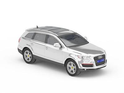3d灰色奧迪車免費模型