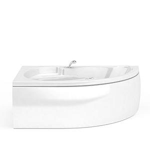 現代扇形浴缸模型