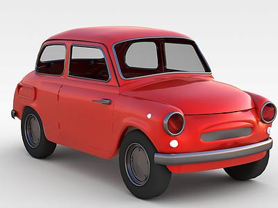 3d<font class='myIsRed'>紅色</font>小汽車模型