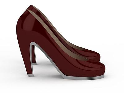 3d<font class='myIsRed'>紅色</font>高跟鞋免費模型