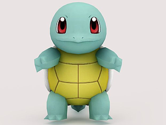 3dSquirtle<font class='myIsRed'>口袋妖怪</font>模型