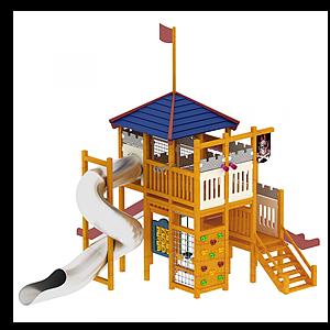 單體滑梯模型
