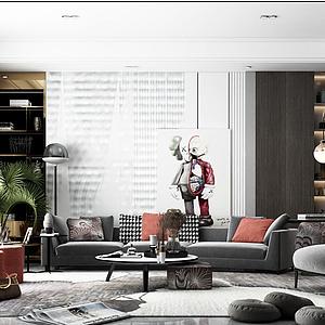 現代風格客廳模型
