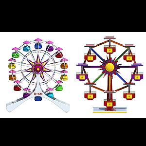 現代兒童游樂設備摩天輪模型